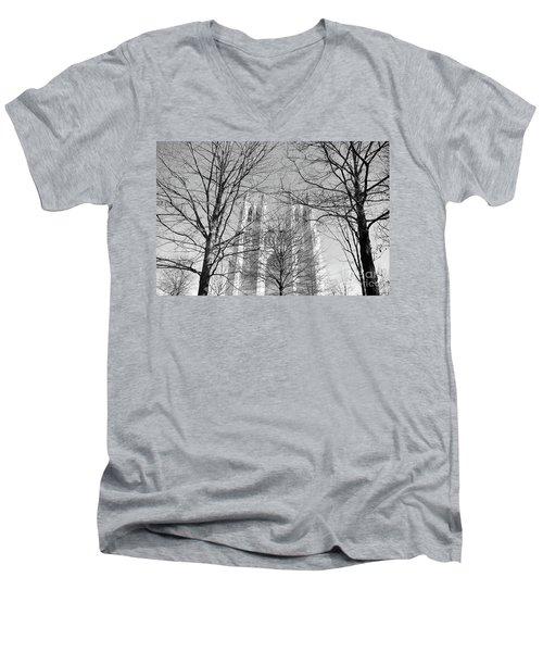 Portrait Of A Cathedral Men's V-Neck T-Shirt