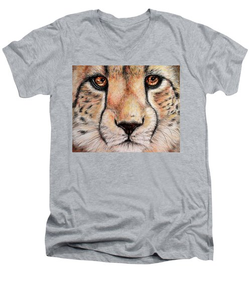 Portrait Of A Cheetah Men's V-Neck T-Shirt