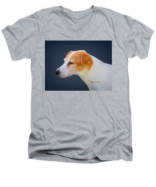 Portrait Of A Jack Russel Men's V-Neck T-Shirt