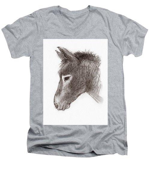 Portrait Of A Mule Men's V-Neck T-Shirt