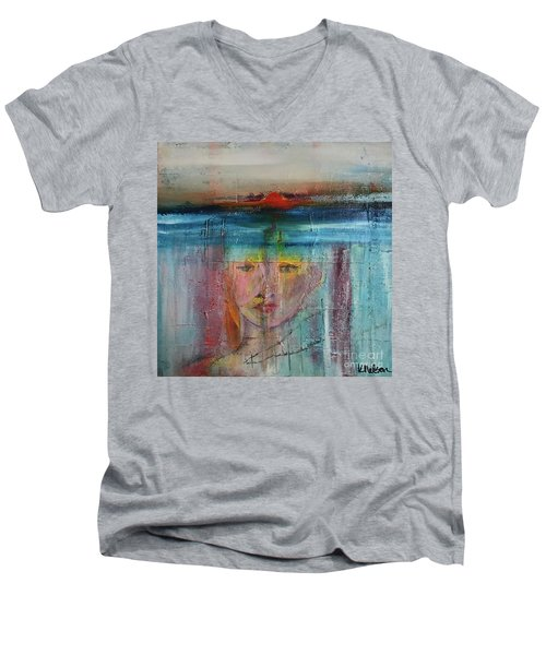 Portrait Of A Refugee Men's V-Neck T-Shirt by Kim Nelson