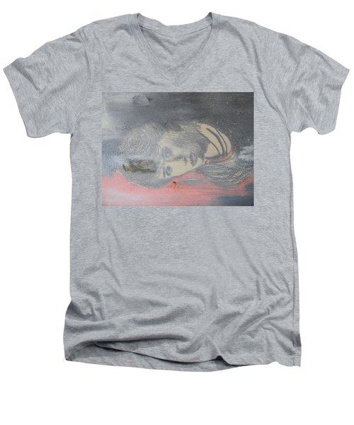 Portrait Of A Theatre Actress Men's V-Neck T-Shirt