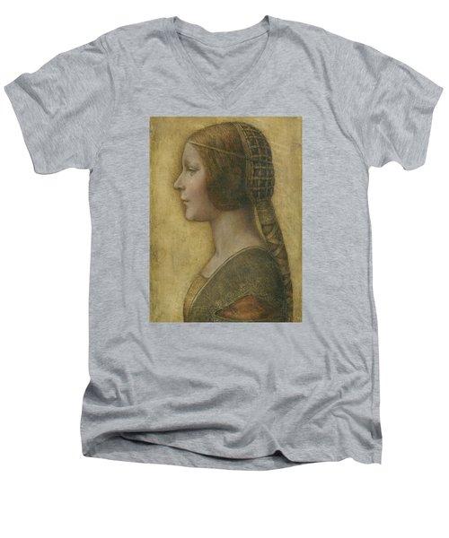 Portrait Of A Young Fiancee Men's V-Neck T-Shirt