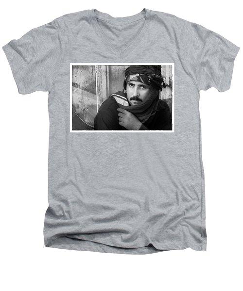 Portrait Of An Arab Man Men's V-Neck T-Shirt