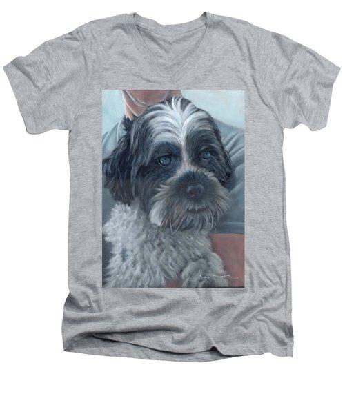Portrait Of Charley Men's V-Neck T-Shirt