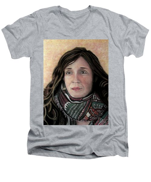 Portrait Of Katy Desmond, C. 2017 Men's V-Neck T-Shirt