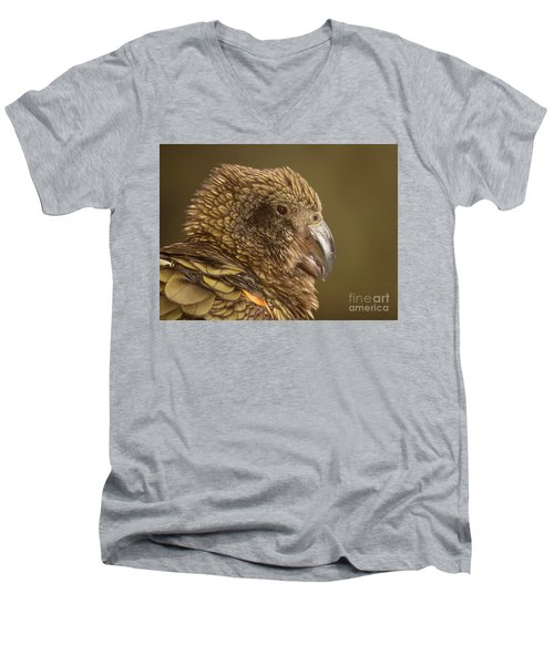 Men's V-Neck T-Shirt featuring the photograph Portrait Of Kea Calling by Max Allen