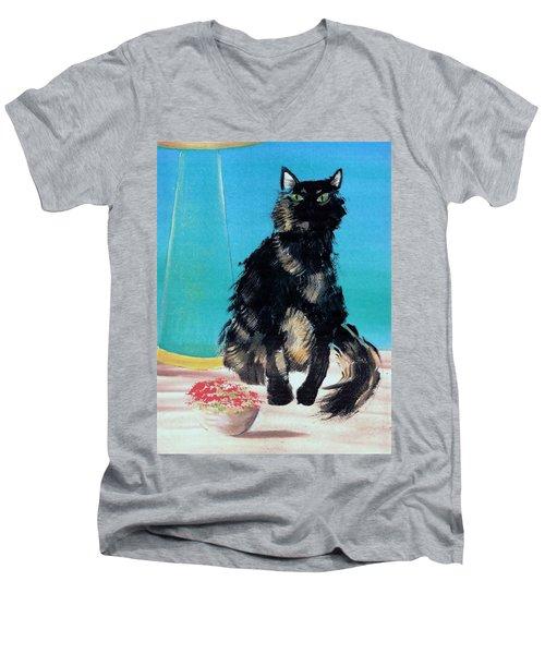 Portrait Of Muffin Men's V-Neck T-Shirt