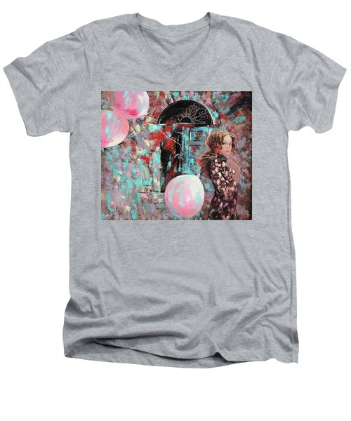 Portrait. Pink Dreams Men's V-Neck T-Shirt