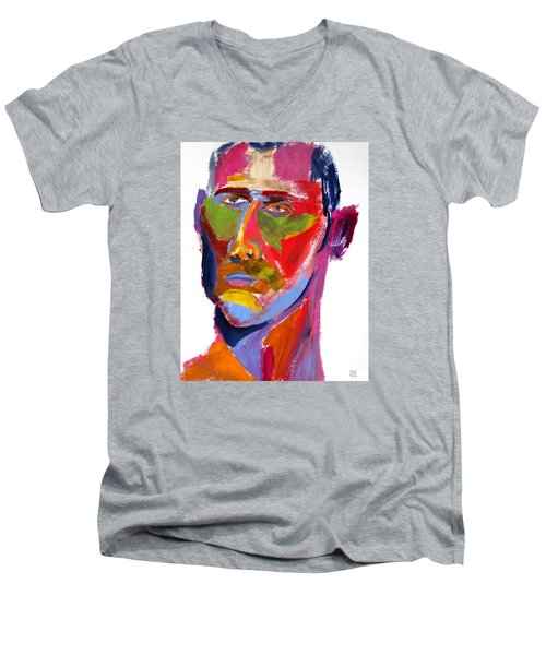 Portrait Prez Men's V-Neck T-Shirt by Shungaboy X