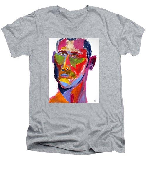Portrait Prez Men's V-Neck T-Shirt
