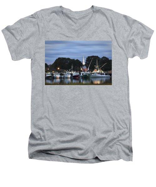 Portsmouth Fish Pier Men's V-Neck T-Shirt