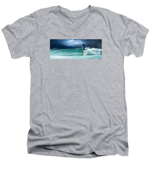 Poseiden's Prayer Men's V-Neck T-Shirt by William Love