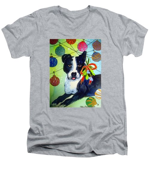 Posey At Christmas 2015 Men's V-Neck T-Shirt