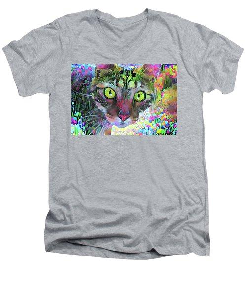 Posie The Tabby Cat Men's V-Neck T-Shirt