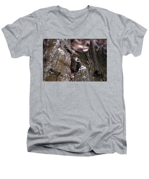 Men's V-Neck T-Shirt featuring the photograph Posing #1 by Jeff Severson