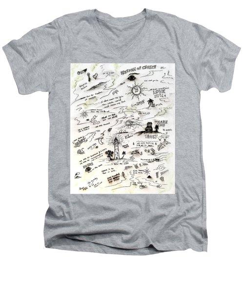 Positive Reminders Men's V-Neck T-Shirt