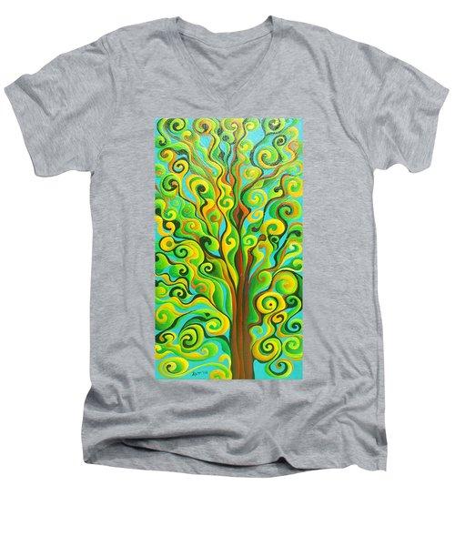 Positronic Spirit Tree Men's V-Neck T-Shirt