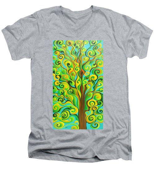 Positronic Spirit Tree Men's V-Neck T-Shirt