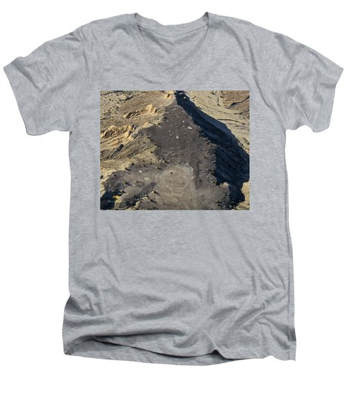 Men's V-Neck T-Shirt featuring the photograph Possible Archeological Site by Jim Thompson