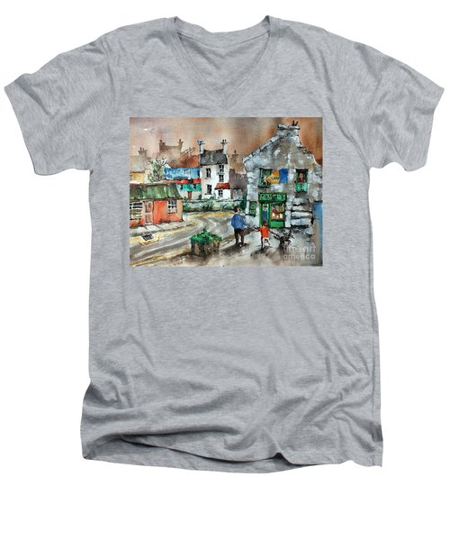 Post Office Mural In Ennistymon Clare Men's V-Neck T-Shirt