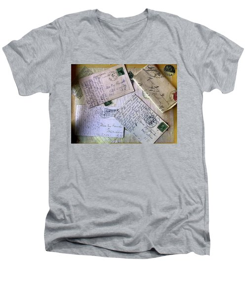 Postcards And Proposals Men's V-Neck T-Shirt