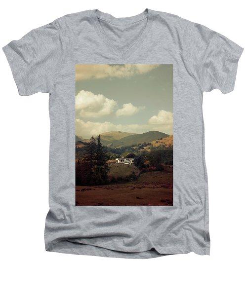 Postcards From Scotland Men's V-Neck T-Shirt by Jaroslaw Blaminsky