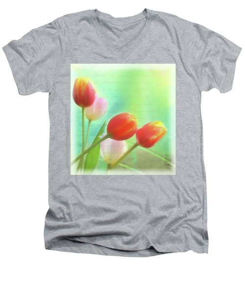 Postcards From The Edge Men's V-Neck T-Shirt by Catherine Alfidi