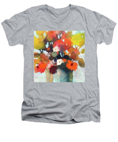 Pot Of Flowers Men's V-Neck T-Shirt