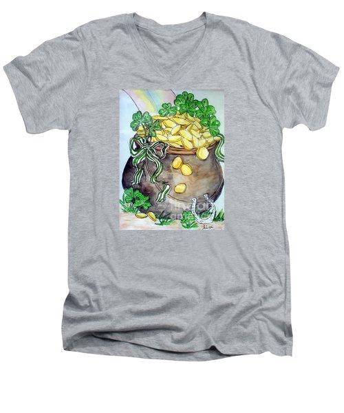 Pot-of-gold Men's V-Neck T-Shirt