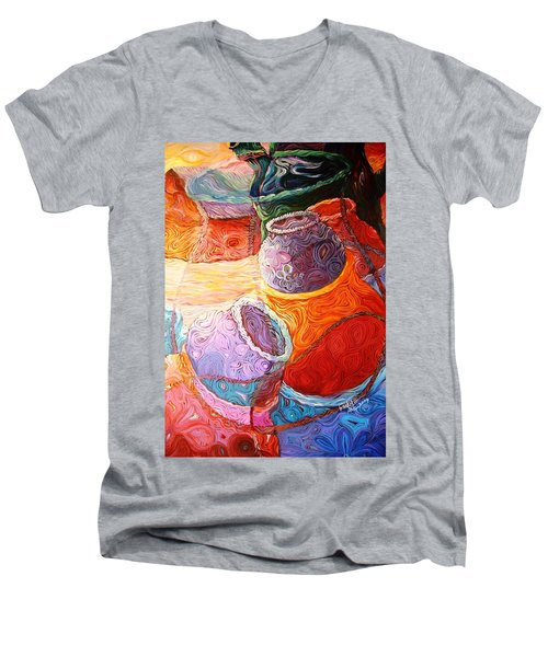 Pot Of Life Men's V-Neck T-Shirt