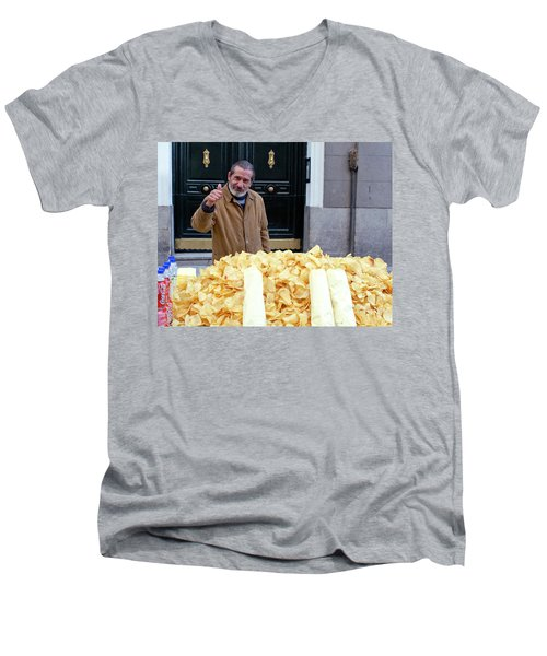 Potato Chip Man Men's V-Neck T-Shirt