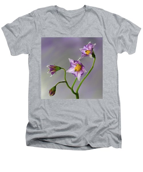 Potato Flowers Men's V-Neck T-Shirt