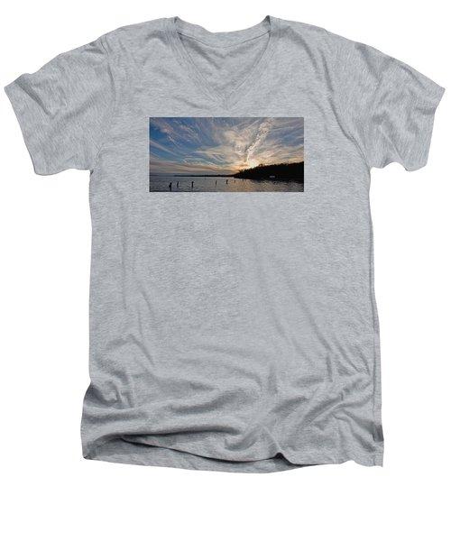 Potomac River Sunset Men's V-Neck T-Shirt