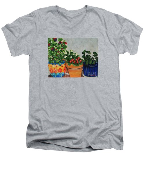 Pots Showing Off Men's V-Neck T-Shirt