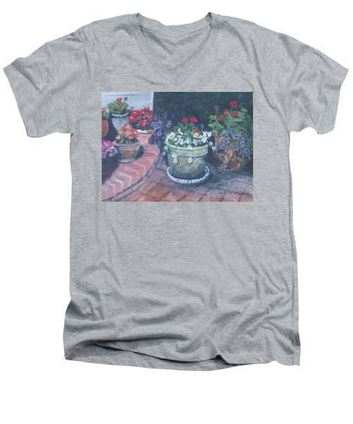Potted Flowers Men's V-Neck T-Shirt