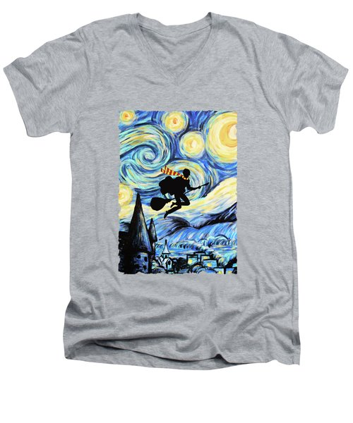 Potter Starry Night Men's V-Neck T-Shirt