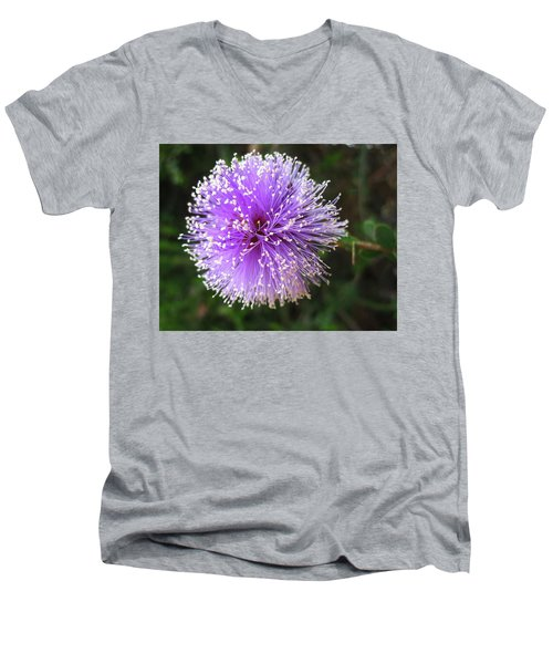 Purple Orb Men's V-Neck T-Shirt by Mary Ellen Frazee