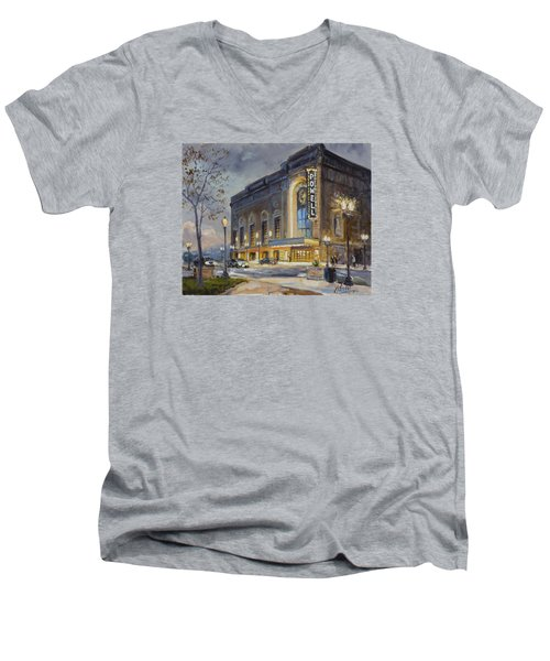 Powell Symphony Hall In Saint Louis Men's V-Neck T-Shirt