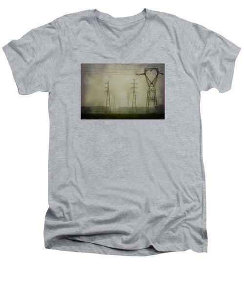 Power 5. Men's V-Neck T-Shirt
