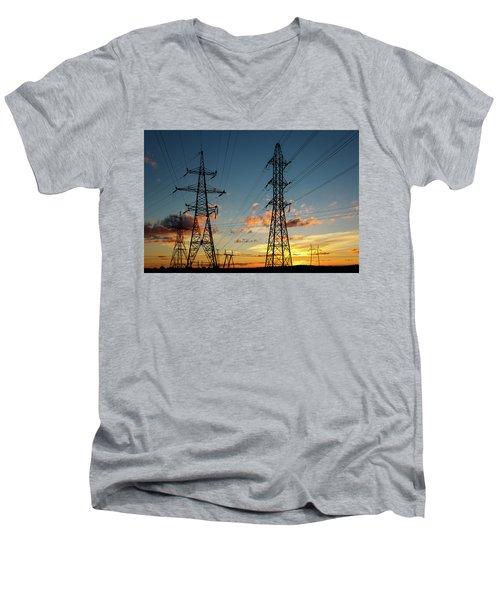Power Cables Men's V-Neck T-Shirt