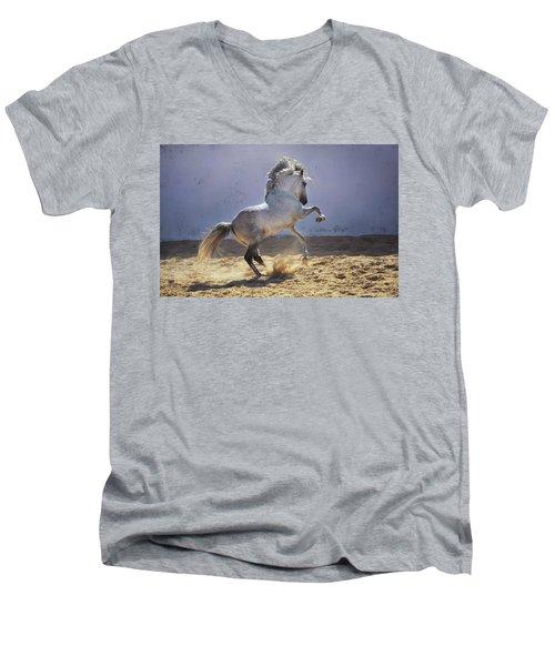 Power In Motion Men's V-Neck T-Shirt