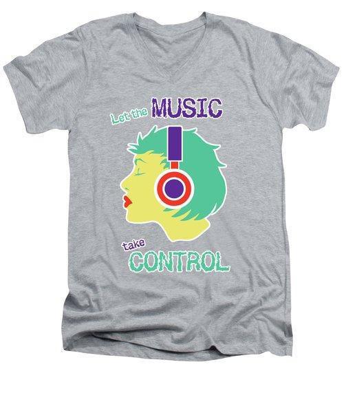 Power Of Music Men's V-Neck T-Shirt