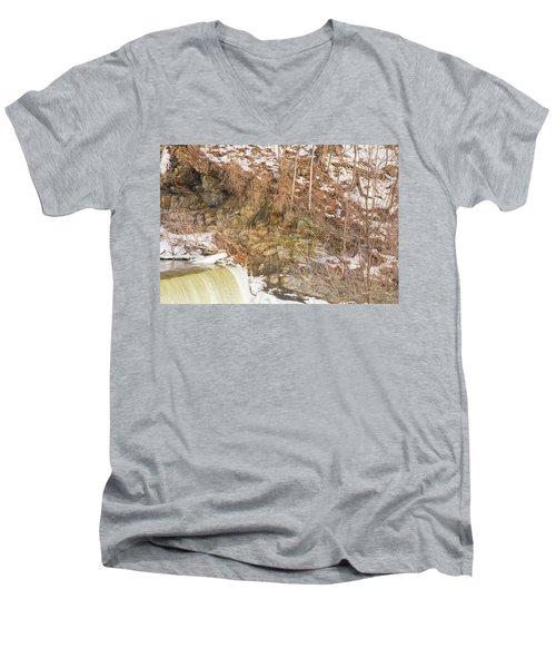 Power Station Falls On Black River Four Men's V-Neck T-Shirt