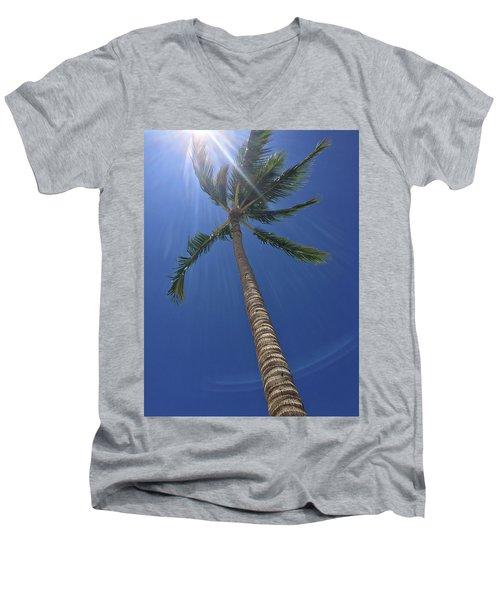 Powerful Palm Men's V-Neck T-Shirt by Karen Nicholson