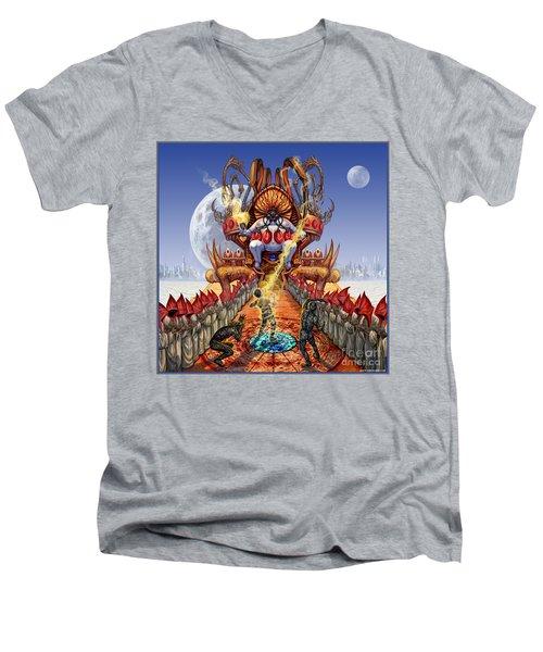Powerless To Power Men's V-Neck T-Shirt by Tony Koehl