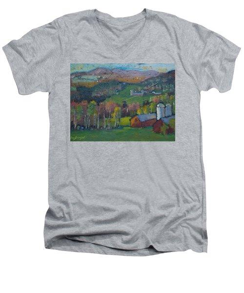 Pownel Vt Men's V-Neck T-Shirt