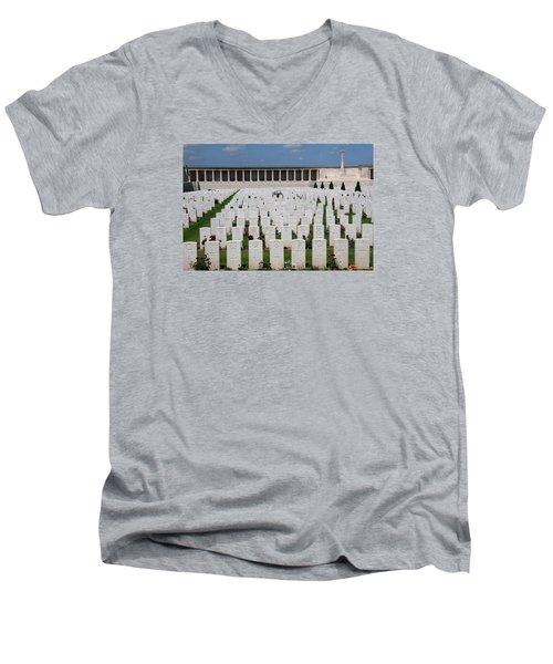Pozieres British Cemetery Men's V-Neck T-Shirt