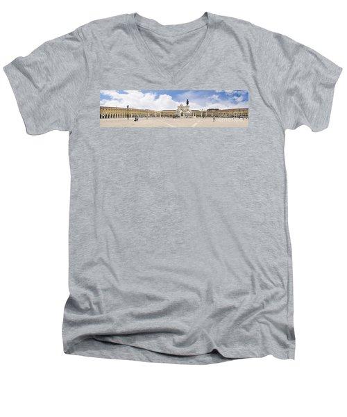 Praca Do Comercio, The Square Of Commerce Men's V-Neck T-Shirt