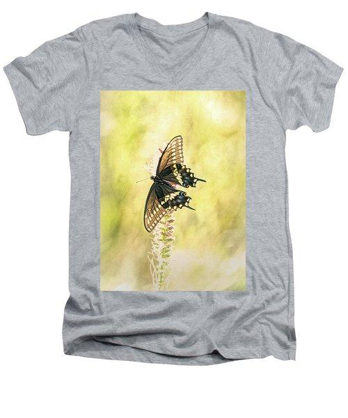 Prairie Butterfly 2 Men's V-Neck T-Shirt